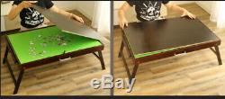 FOLDING TILTING WOODEN JIGSAW PUZZLE STORAGE TABLE Board+2 DRAWERS+US STOCK