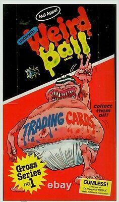 FULL BOX 1986 Weird Ball Cards Series 1 Mel Appel (48 SEALED PACKS) GPK PARODY
