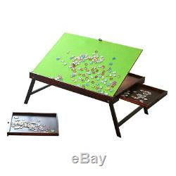 Folding Tilting Wooden Jigsaw Puzzle Table Storage Collapsible Desk 1000 pcs