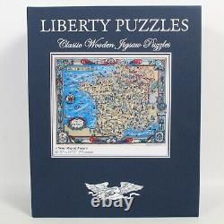 Gorgeous Liberty Classic Wooden Jigsaw Puzzle Story Map Of France 743 Pieces
