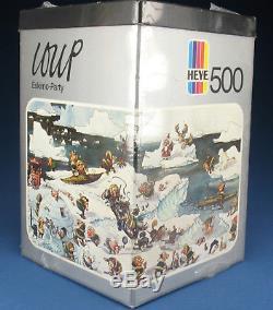 HEYE Dreieck PUZZLE 8317 LOUP Eskimo Party 500 Teile 1974 NEU NEW
