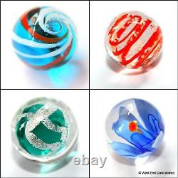 Handmade Marbles Solitaire Game Puzzle Set 33 x 16mm Glass Art Toy Marble