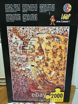 Heye Ave Caesar 2000 Piece Jigsaw Puzzle Very Rare Jean Jacques Loup Free P&P