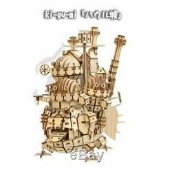 Howl's Moving Castle ki-gu-mi Howl Castle 3D Puzzle Studio Ghibli wood puzzle