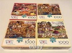 Huge Lot Collection of 16 Charles Wysocki 1000 Piece Puzzles by Buffalo Games
