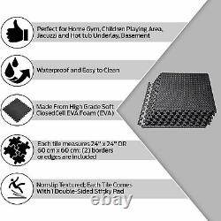 Interlocking Soft Foam Floor Mats EVA Puzzle Rubber Yoga Tiles Gym Flooring
