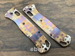 JIGSAW PUZZLES Anodized Titanium Scales for Benchmade Bugout 535 Folding Knife