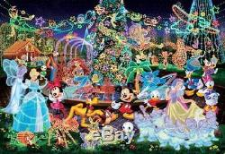 Japan Jigsaw Puzzle Tenyo Disney Playground Night Party Mickey Mouse D-4000-561