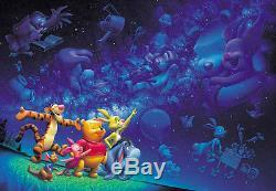 Japan Jigsaw Puzzle Tenyo Disney Winnie the Pooh Piglet Eeyore Night D-500-339