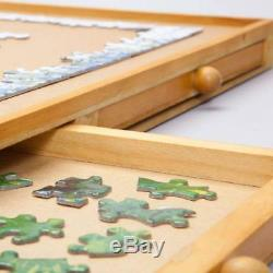 Jigsaw Puzzle Piece Wooden Storage System Play Board Toy Sorter Drawer Organizer