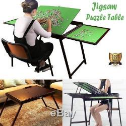 Jigsaw Puzzle Table Board Folding Desk Storage Wooden Collapsible Desk 1500 pcs