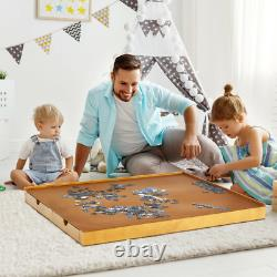 Jigsaw Puzzle Table Wood 4 Sliding drawers Smooth Work Surface Store 1500 Pcs
