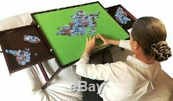 Jigsaw Wooden Puzzle Storage Table with 2 drawers Folding Table 1000 pcs mat BSP