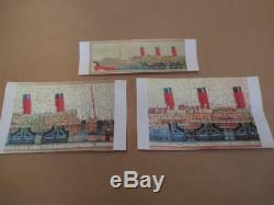Jigsaw puzzle, Chad Valley, wooden, RMS Aquitania, antique