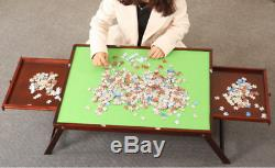 Jigsaw puzzle table storage folding table board drawers 1000 pcs mat US in stock