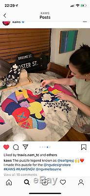 KAWS NGV Exclusive No Ones Home & Stay Steady Peanuts Snoopy jigsaw puzzle