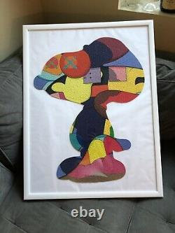 KAWS No One's Home Puzzle Snoopy NGV EXCLUSIVE Completed & Framed 26 X 34
