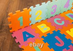 Kids 36pc Colourful Foam Alphabet Soft Jigsaw Puzzle Play Learning Mat Numbers