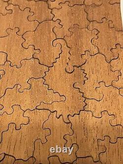 LARGE WOODEN VINTAGE COMPLETE PAR JIGSAW PUZZLE SOUTHWESTERN 34x22 BEAUTIFUL