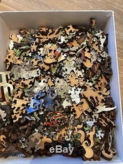 LIBERTY CLASSIC WOODEN JIGSAW PUZZLE HUMMINGBIRDS. Mint. Complete