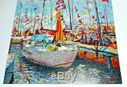 LIBERTY Classic Wooden Jigsaw Puzzle BOATS by LINDSEY 486 pieces MINT