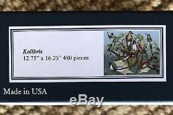 LIBERTY Classic Wooden Jigsaw Puzzle KOLIBRIS Hummingbirds 480 Pieces COMPLETE