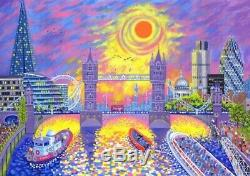 LIBERTY Wooden Jigsaw Puzzle, Sunset Pool of London 507 Pieces MINT