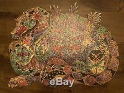 LIBERTY Wooden Jigsaw Puzzle. The DRAGON by Sue Coccia. 467 pieces. Complete