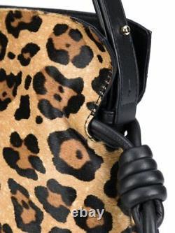 LOEWE Flamenco Knott Shoulder Bag Leopard Calf Hair Puzzle