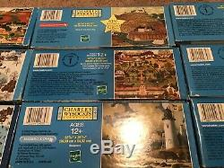 Large Lot Of 16 Charles Wysocki 1000 Piece Puzzles Free Shipping No Duplicates