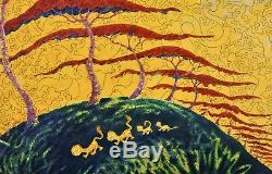 Liberty Classic Wood Jigsaw Puzzle Lion Stroll by Dr. Seuss COMPLETE
