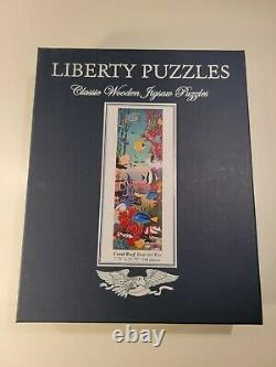 Liberty Classic Wooden Jigsaw Puzzle, Coral Reef by Raul del Rio, Pre-owned