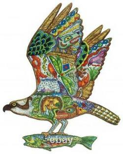 Liberty Classic Wooden Jigsaw Puzzle Osprey by Sue Coccia, Pre-owned
