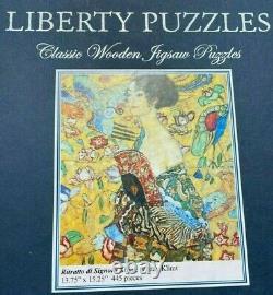 Liberty Classic Wooden Jigsaw Puzzle RARE Ritratto di Signora Klimt, 445 pcs