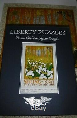 Liberty Classic Wooden Jigsaw Puzzle Spring In Dunes By South Shore Line 510 pc