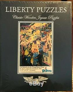 Liberty Classic Wooden Puzzle, Cat Detective In The Wrong Part Of Town Brand New