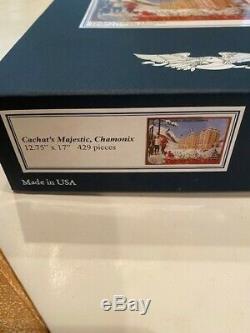 Liberty Classics Wooden Jigsaw Puzzle Cachet's Majestic Chamonix 429 Pieces
