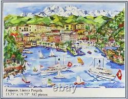 Liberty Classics Wooden Jigsaw Puzzle Lugano Switzerland, Linnea Pergola 582 Pcs
