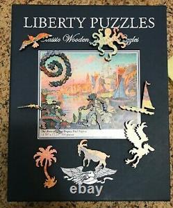 Liberty Classics Wooden Jigsaw Puzzle, The Port of Saint-Tropez, Paul Signac