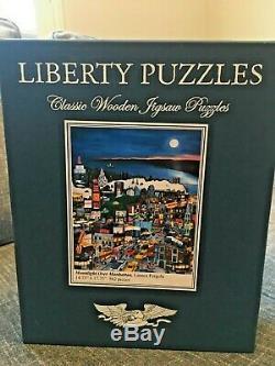 Liberty Classics wooden jigsaw Moonlight Over Manhattan By Linnea Pergola