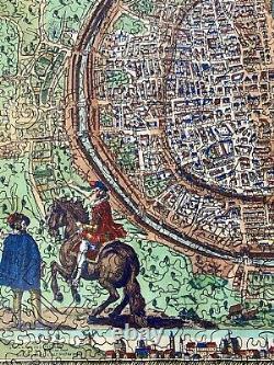 Liberty Classics wooden jigsaw puzzle Map of Paris, 545 pieces, MINT/Complete