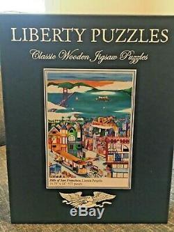 Liberty Classics wooden jigsaw puzzles Hills of San Francisco Linnea Pergola