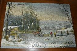 Liberty Puzzle wooden Whimsical Winter in the country Gathering Ice 499 Pcs