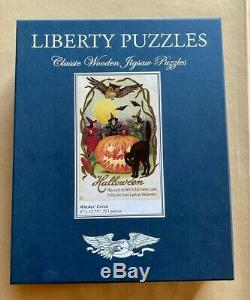 Liberty Puzzles Classic Wooden Jigsaw Halloween Fall theme Witches' Coven