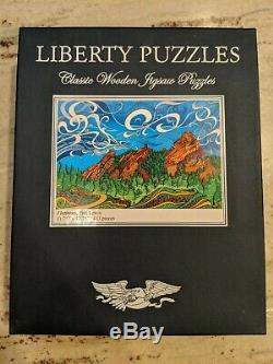 Liberty Puzzles Classic Wooden Jigsaw Puzzle Flatirons 433 pieces