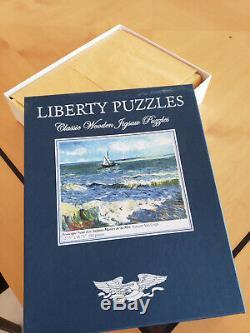 Liberty Puzzles Classic Wooden Jigsaw Puzzle, Seascape Near Les Saintes Maries D