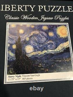 Liberty Puzzles Classic Wooden Jigsaw Puzzle Starry Night Vincent Van Gogh
