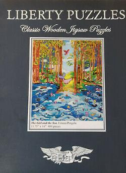 Liberty Puzzles Classic Wooden Jigsaw Puzzles The Girl and the Sea 489 pieces