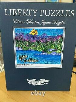 Liberty Puzzles Forest Lakes by Phil Lewis, 501 Pieces 12.75 x 16.5
