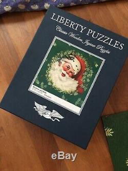 Liberty Puzzles Mistletoe and Holly Wooden Jigsaw Puzzle
